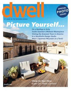 Dwell magazine is a smart, accessible publication dedicated to modern design. Each issue explores the myriad ways in which good design thinking can deliver a better life. Post Modern Architecture, Japanese Mountains, Dwell On Design, World Pictures, Design Thinking, Magazine Design, Rooftop, Cover Design, Luxury Homes
