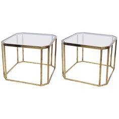 Pair of Brass Milo Baughman End Table, 1960s USA | 1stdibs.com
