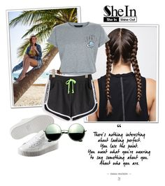 """""""shein contest"""" by elmaa02104 ❤ liked on Polyvore featuring WithChic, Puma, Revo and New Look"""