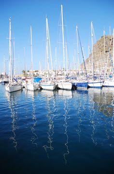 Yachts in Puerto Mogan, Gran Canaria
