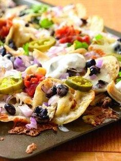 Nachos With Chicken And Black Beans