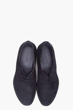 LANVIN Black Derby Nodule Shoes  I want them!!!