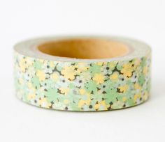 Green and Gold Flower Washi Tape