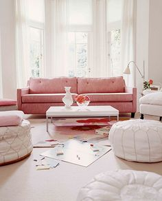 pinks and poufs