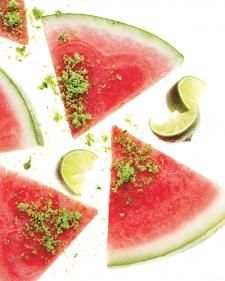 Make watermelon taste even better by topping it with Herb Sugar and a squeeze of lime. Click for the herb sugar recipe!