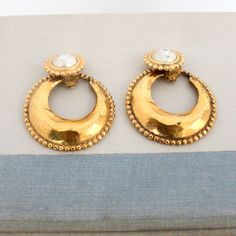 Chanel Clip Earrings With Pearl