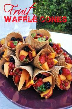 Fruit Waffle Cones