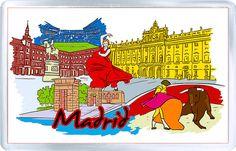 $3.29 - Acrylic Fridge Magnet: Spain. Madrid