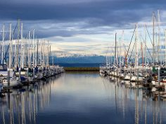 Olympic Mountains Through Shilshole Bay Marina | by KevinMallick