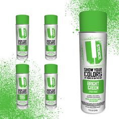$31.95  PRODUCT DETAILS Inverted Aerosol Lawn Spray Paint 17oz can, 20oz total weight Bright Green 4 pack