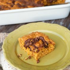 Nutella Swirled Pumpkin Bars