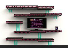 Donkey Kong Inspired Wall Shelves