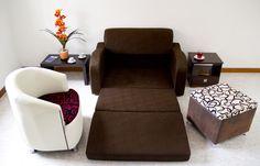 Sofa Cama Suizo de 1,30 * 0,80, este estilo puede ir en la sala acompañado de sillas o puf, con mesa de centro, se puede jugar con los colores - Silla deco $ 459.000 Recliner, Armchair, Lounge, Furniture, Home Decor, Sleeper Couch, Game Room, Centerpieces, Chairs