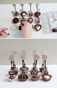 Wedding Place Card Ideas. Something in a phyllo cup, but what??? Sweet or savory?