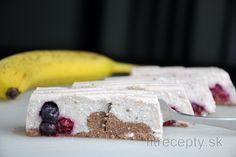 Nepečený banánovo-tvarohový dezert Baked Banana, Desserts Sains, Köstliche Desserts, Healthy Sweets, Healthy Baking, Sin Gluten, Dessert Original, Clean Eating Sweets, Health Desserts