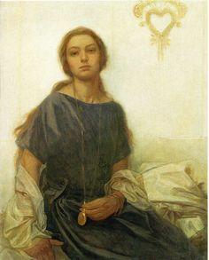 Portrait of Jaroslava - Alphonse Mucha