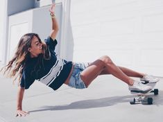 At present, skate styles is consequently regularly occurring in well known society, that'd it seem like fair game for all those to use. Skater Girl Style, Skater Girl Outfits, Girls Skate, Surfboard, Skater Guys, Beach Vibes, Skateboard Girl, Skateboard Clothing, Skate Style