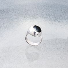 Small Dome Ring  #handmade #contemporaryjewelry #handcrafted #patina #silver #sterlingsilver #jewellery #contemporary #dome #jewelry #contemporary #ring