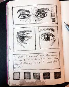 Art by Inês Apolinário. || instagram.com/artbyinesapolinario #eyes #sketchbook #sketch #draw #drawing #art #arte