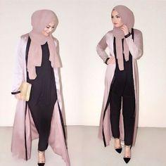 Abaya hijab fashion from Dubai - Fashion Islamic Fashion, Muslim Fashion, Modest Fashion, Fashion Outfits, Abaya Mode, Hijab Mode, Stylish Hijab, Hijab Chic, Dubai Fashion