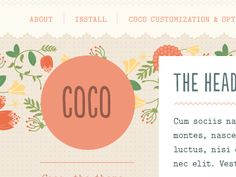 COCO Tumblr Theme by Regina Casaleggio