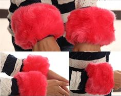 New Luxury multicolor Faux Rabbit Fur Wrist Arm Warmer Cuff Wristband Oversleeve Gloves red Chericom Store http://www.amazon.com/dp/B00OCB6V5G/ref=cm_sw_r_pi_dp_NXGcwb06ZS7G7