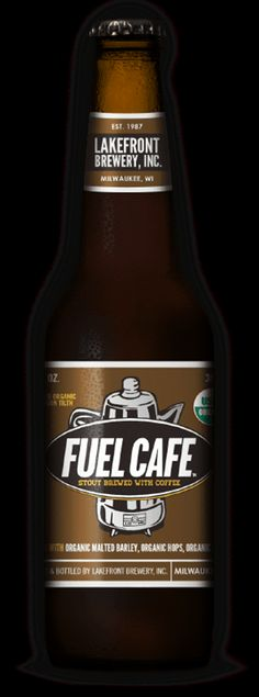 Fuel Café Stout from Lakefront Brewery, Wisconsin.  I'm not actually drinking this, I'm making a chocolate cake.