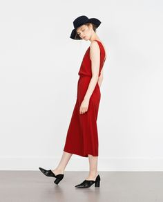 FANCY CROPPED JUMPSUIT - Jumpsuits - WOMAN | ZARA United States