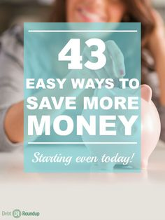 Who doesn't love saving more money? We might think it's difficult, but here are at least 43 ways to save more money starting as early as today. There is a potential to save hundreds and even thousands with these tips. Let the savings begin!