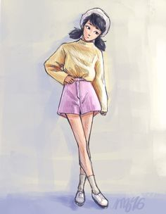 """mijizu: """" I wanted to draw cute outfits and I thought mari would be a fitting model """" Meraculous Ladybug, Ladybug Comics, Ladybugs, Miraculous Ladybug Fan Art, Princesas Disney, Cute Illustration, Cute Drawings, Marinette Anime, Fandoms"""