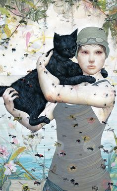 Through surreal imagery and imagination the work of Steven Tabbutt pleasantly blurs illustration and fine art. Crazy Cat Lady, Crazy Cats, Tim Walker, Street Art, Science Fiction, Bee Art, Art File, Illustrations And Posters, Oeuvre D'art