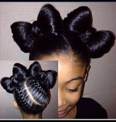 Cute hair style for lil girl. Reminds me of picture day at school
