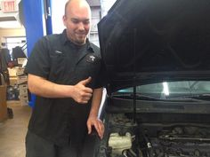 Steve admiring some of his engine repair work that was caused by lack of maintenance and oil changes.