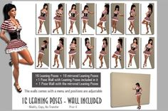 Different Poses For Models | So here it is, a package with 16+16 poses and two walls that are fully ...