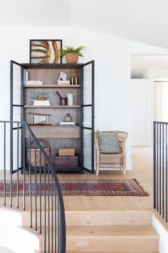 """When Kate Lester first sat down with her clients, they threw around a lot of different concepts for the renovation of the dated, Mediterranean home they just bought in Manhattan Beach, California. They landed on """"Spanifornia. Bohemian Chic Decor, Hallway Storage, Hallway Cabinet, Home Trends, California Homes, Southern California, Home Look, Timeless Design, House Design"""
