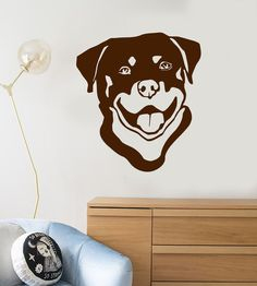 Vinyl Wall Decal Dog Head Pet Animal Kids Room Decor Stickers (ig219)