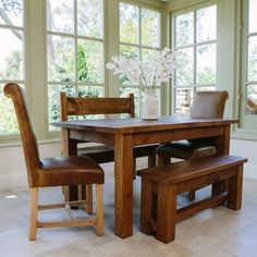 Wonderful Plank Dining Table From Curiosity Interiors. Rustic Chunky Tables, Handmade  In The UK.