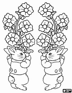 coloring pages vases of flowers coloring pages coloring pages of easter printable easter - Coloring Pages Roses A Vase