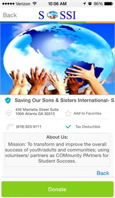 Saving Our Sons & Sisters International in Atlanta, GA #GivelifyNonprofits