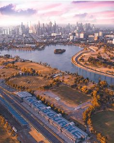 Truly a stunning city. Appreciated even more from above . If you would like to be featured be sure to . Great photo by: Melbourne Australia City, Places In Melbourne, Melbourne Suburbs, Albert Park Lake, City From Above, Romance, New City, City Photography, Free Travel