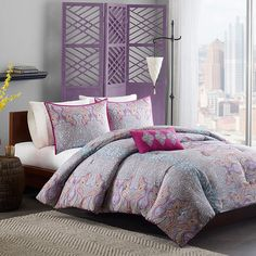 Adorned with an eye-catching paisley motif, this exotic comforter set is an alluring addition to your guest room or master suite.  P...