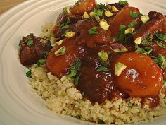 Food Wanderings in Asia: Beef Apricot Moroccan Tagine with Couscous