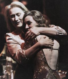 """""""I got to meet Meryl Streep at the Critics Awards. Stanley Tucci introduced us. When I went back to my seat I started telling everyone 'I just met Meryl Streep and she gave me a hug and told me I was great in a movie!' I couldn't stop giggling for a whole five minutes."""" - Saoirse Ronan"""