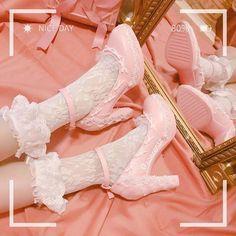 Pastel Fashion, Kawaii Fashion, Lolita Fashion, Cute Fashion, Fashion Outfits, Emo Fashion, Gothic Fashion, Kawaii Shoes, Kawaii Clothes