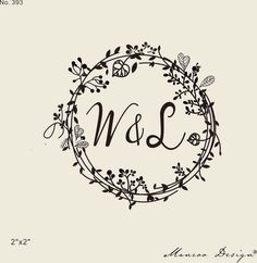 wedding stamps-Floral Frames rubber stamp -custom initial stamps -custom rubber stamp-wreath & Flower stamp-calligraphy stamp- by mancoostamp on Etsy https://www.etsy.com/listing/199888738/wedding-stamps-floral-frames-rubber