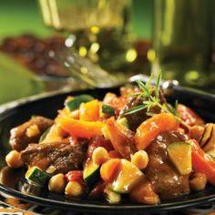 Cinnamon Lamb Tagine with Apricots Recipe Main Dishes with avocado oil, onion, garam masala, lamb leg, garlic, tomatoes with juice, carrots, zucchini, dried apricot, garbanzo, honey