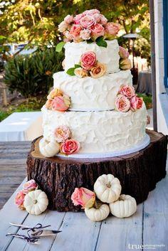 wedding-cakes-20-03272014nz Pumpkin Wedding Cakes, Fall Wedding Cakes, Wedding Cake Rustic, Mod Wedding, Wedding Cake Designs, Rustic Cake, Rustic Weddings, Vintage Weddings, Indian Weddings