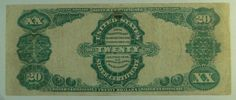 US Bill 1891 $20 Silver Certificate (Manning) Note
