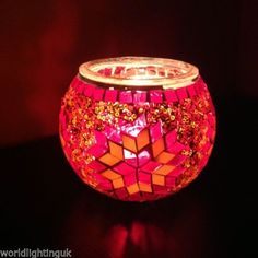 Christmas Gift - Turkish Moroccan Mosaic Candle Holder Lamp FREE POSTAGE