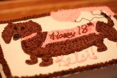 pic of dachshund cake